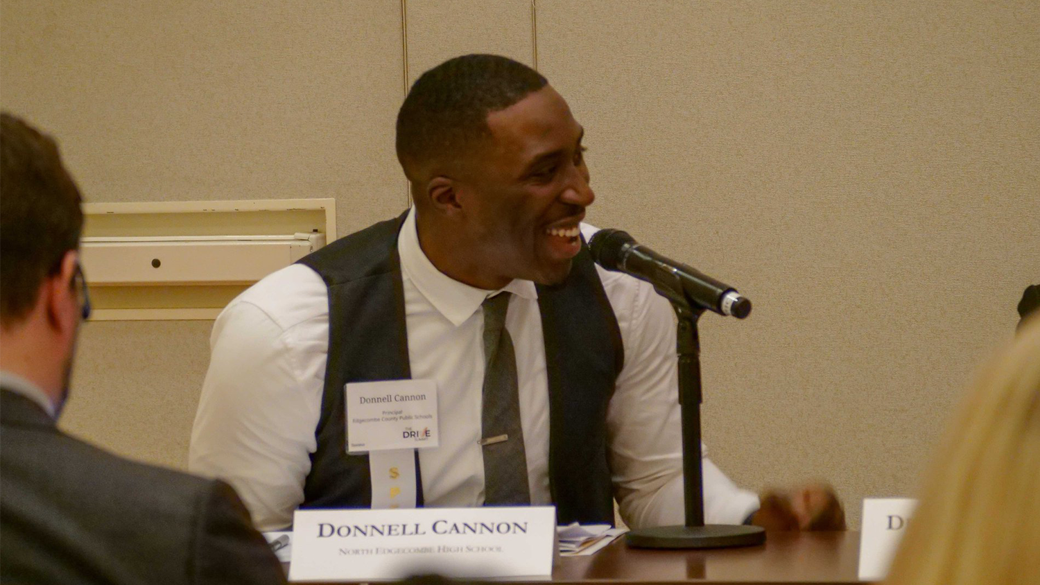NELA alum Donnell Cannon spoke at the DRIVE Summit at NC State University