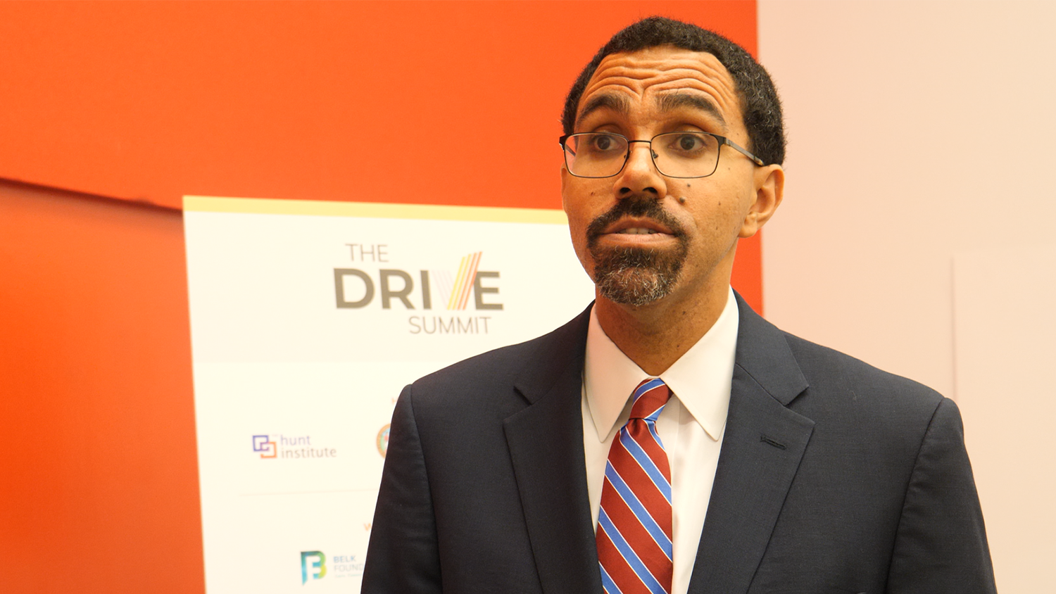 Former U.S. Secretary of Education John B. King Jr. spoke with the NC State College of Education during the DRIVE Summit
