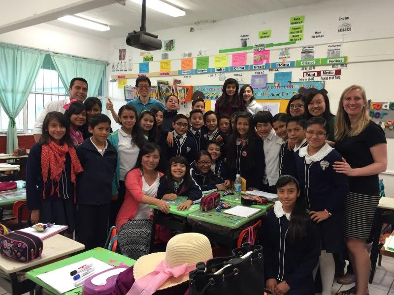 teaching students in Mexico