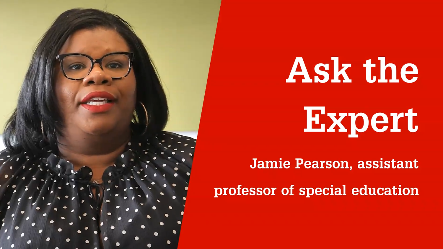 What is inclusive education? Jamie Pearson, Ph.D. answers the question.