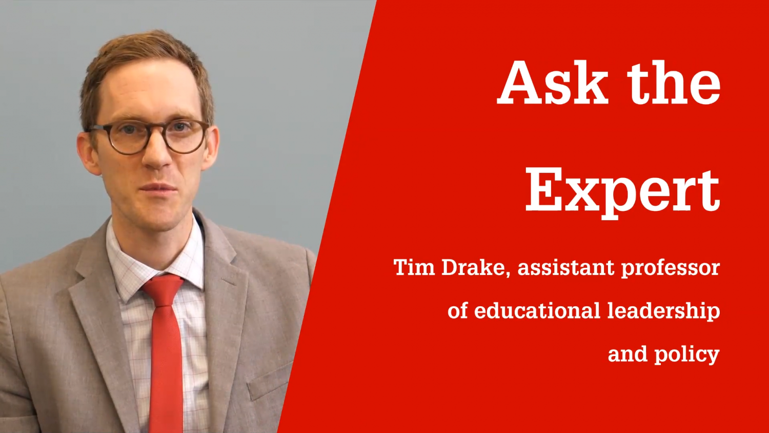 NC State College of Education Assistant Professor Timothy Drake