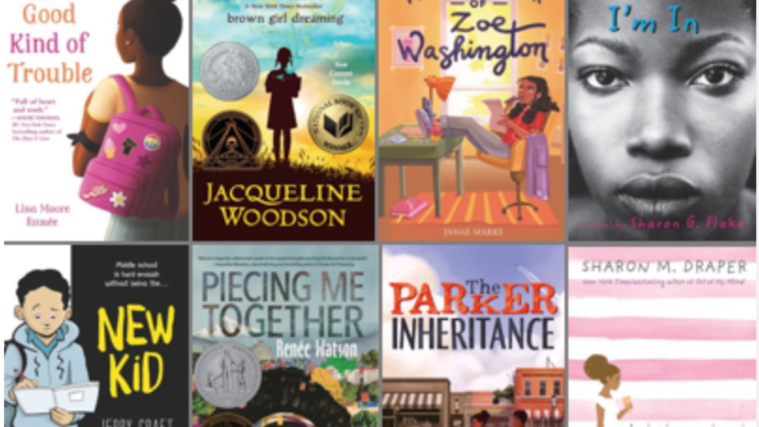 A selection of books recommended for anti-racist ELA teaching