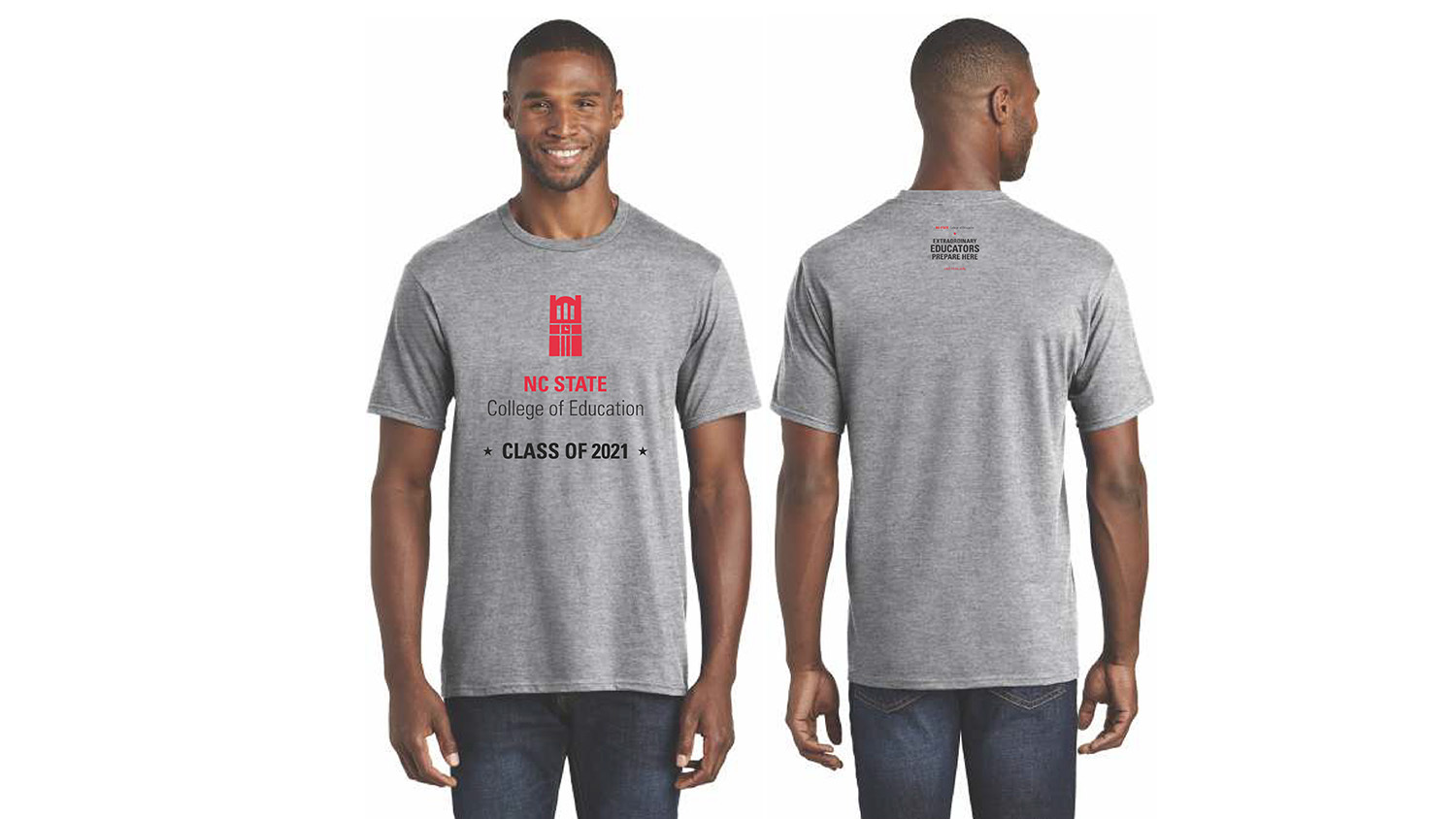 A t-shirt May 2021 graduates of the NC State College of Education received