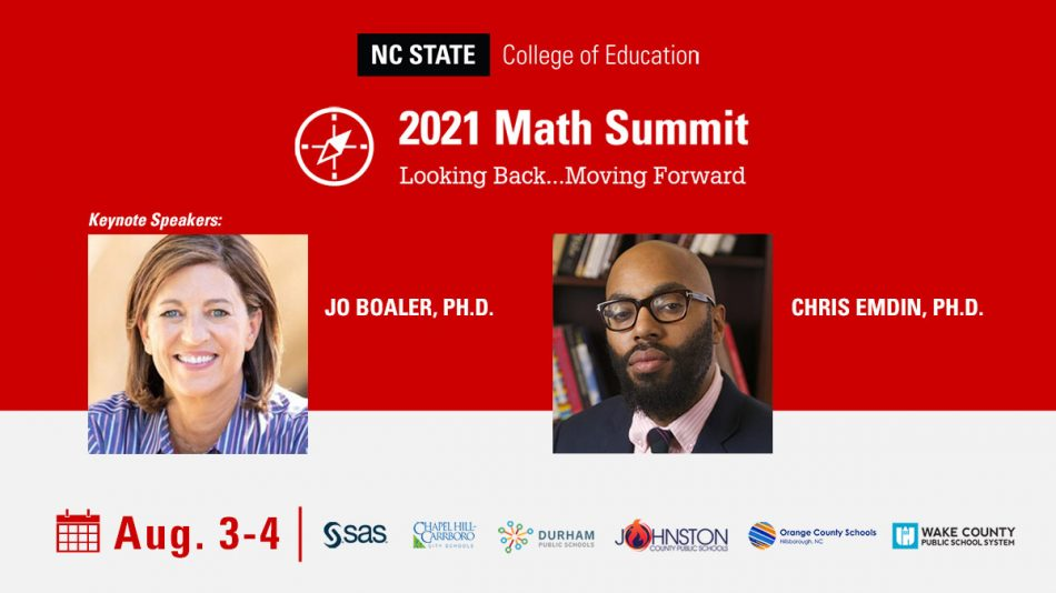 2021 Math Summit with two keynote speakers: Jo Boaler and Chris Edmin